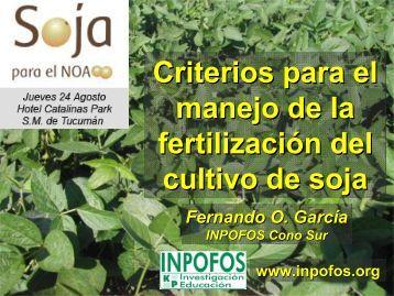 Criterios para el manejo de la fertilización del cultivo de soja