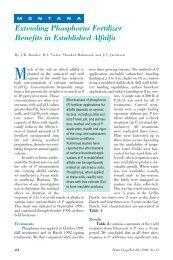 Extending Phosphorus Fertilizer Benefits in Established Alfalfa ...