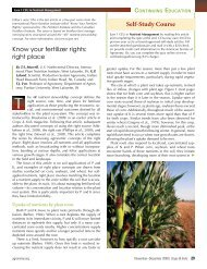 Selecting the Right Placement - International Plant Nutrition Institute