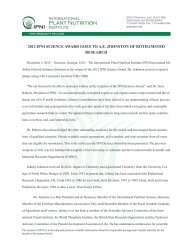 PDF of this press release - International Plant Nutrition Institute