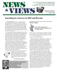 Searching for Answers in 2003 and Beyond - International Plant ...