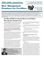 Fertilizer BMPs for the Northern Great Plains - International Plant ...
