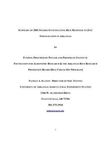 AR-21F 2001 Annual Rpt.pdf - International Plant Nutrition Institute