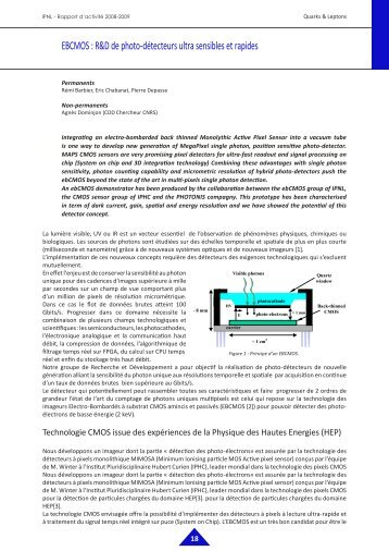 EBCMOS : R&D de photo-détecteurs ultra sensibles ... - IPNL - IN2P3