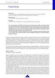 Physique théorique - IPNL - IN2P3