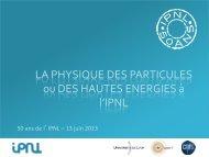 Physique des particules - IPNL - IN2P3