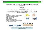 Performance study of a MegaPixel single photon ... - IPNL - IN2P3