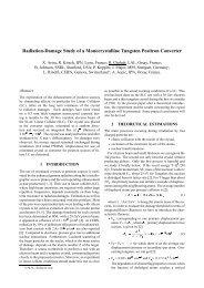 Radiation-Damage Study of a Monocrystalline Tungsten Positron ...