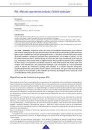 IPM : effets des rayonnements ionisants à l'échelle ... - IPNL - IN2P3