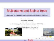 Multiquarks and Steiner trees - IPNL - IN2P3