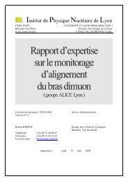 Rapport - IPNL - IN2P3