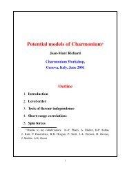 Potential models of Charmoniuma - IPNL