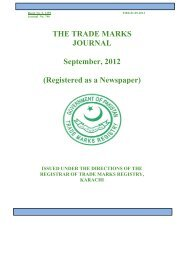 THE TRADE MARKS JOURNAL September, 2012 ... - IPO Pakistan