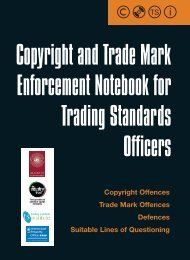 New powers for Trading Standards on copyright - UK Intellectual ...