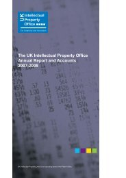 2007 - 2008 (460Kb) - UK Intellectual Property Office