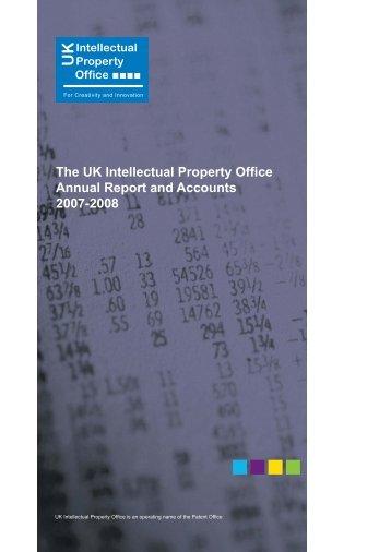 2007 - 2008 (460Kb) - UK Intellectual Property Office
