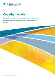 Streamlining copyright licensing for the digital age - UK Intellectual ...