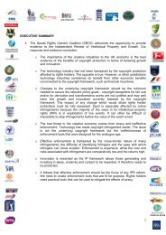 Sports Rights Owners Coalition - UK Intellectual Property Office