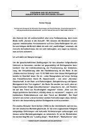 EIGENSINN UND SELBSTSORGE: SUBJEKTSEIN IN DER ...