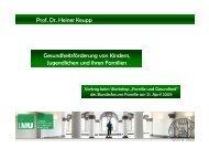 Gesundheitsförderung von Kindern, Jugendlichen ... - IPP München