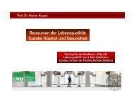 Ressourcen der Lebensqualität: Soziales Kapital und Gesundheit
