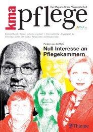 Null Interesse an Pflegekammern - IPP