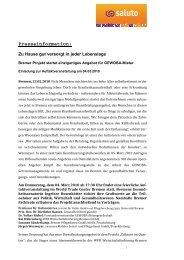 Presseinformation - IPP - Universität Bremen