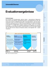 Evaluationsergebnisse - IPP - Universität Bremen