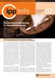 NutzerInnenorientierung im Gesundheitswesen - IPP - Universität ...