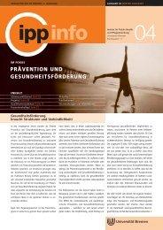 Prävention und Gesundheitsförderung - IPP - Universität Bremen