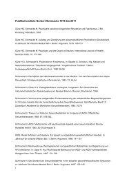 Publikationsliste Norbert Schmacke 1976 bis 2011 - IPP