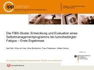 Die FIBS-Studie: Entwicklung und Evaluation eines ... - IPP