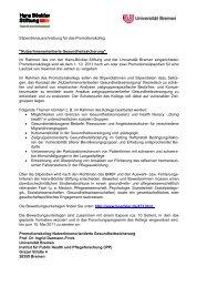 Stipendienausschreibung für das Promotionskolleg ... - Die DGMS