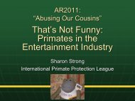 Primates in the Entertainment Industry - International Primate ...