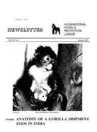1987: March - International Primate Protection League
