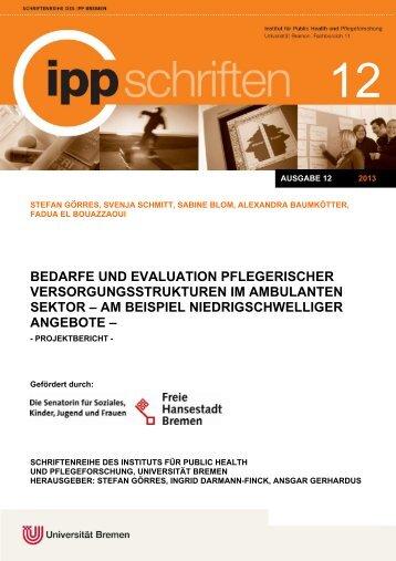 am beispiel niedrigschwelliger angebote - IPP - Universität Bremen