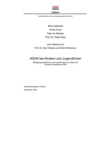 zum ADHS-Report der GEK
