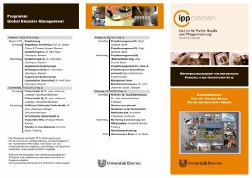 Flyer (PDF, 262KB) - IPP - Universität Bremen