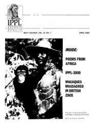 ISSN-1040-3027, VOL. 27, NO. 1 APRIL 2000 - International Primate ...