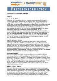 Experten für US-Atomwaffen in Büchel Regional Dr. Elke ... - ippnw