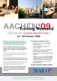 Training Weekend - ippnw