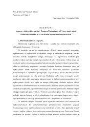 Prof. dr hab. inż. Wojciech Marks Piaseczno, al. 3 Maja 3 Warszawa ...