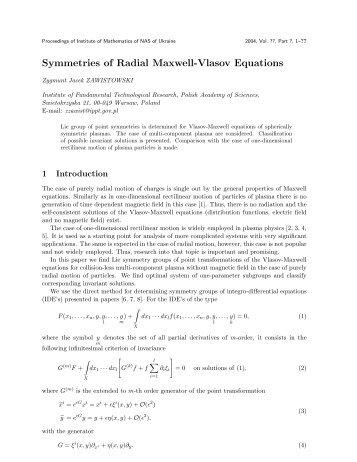 Symmetries of Radial Maxwell-Vlasov Equations