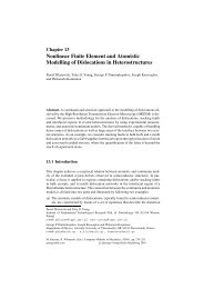 Nonlinear Finite Element and Atomistic Modelling of Dislocations in ...
