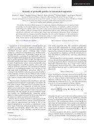 Dynamics of permeable particles in concentrated ... - IPPT PAN