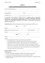 OFERTA w sprawie przetargu nieograniczonego (nr ZP/PN/111/2012).