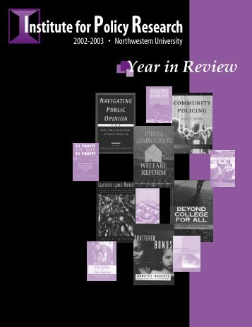 Published Articles & Chapters 2002 - Institute for Policy Research ...