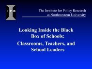 View presentation slides - Institute for Policy Research ...