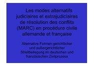 Les modes alternatifs judiciaires et extrajudiciaires de résolution des ...