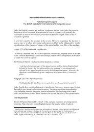 1 Provisional Enforcement Questionnaire National Report England ...